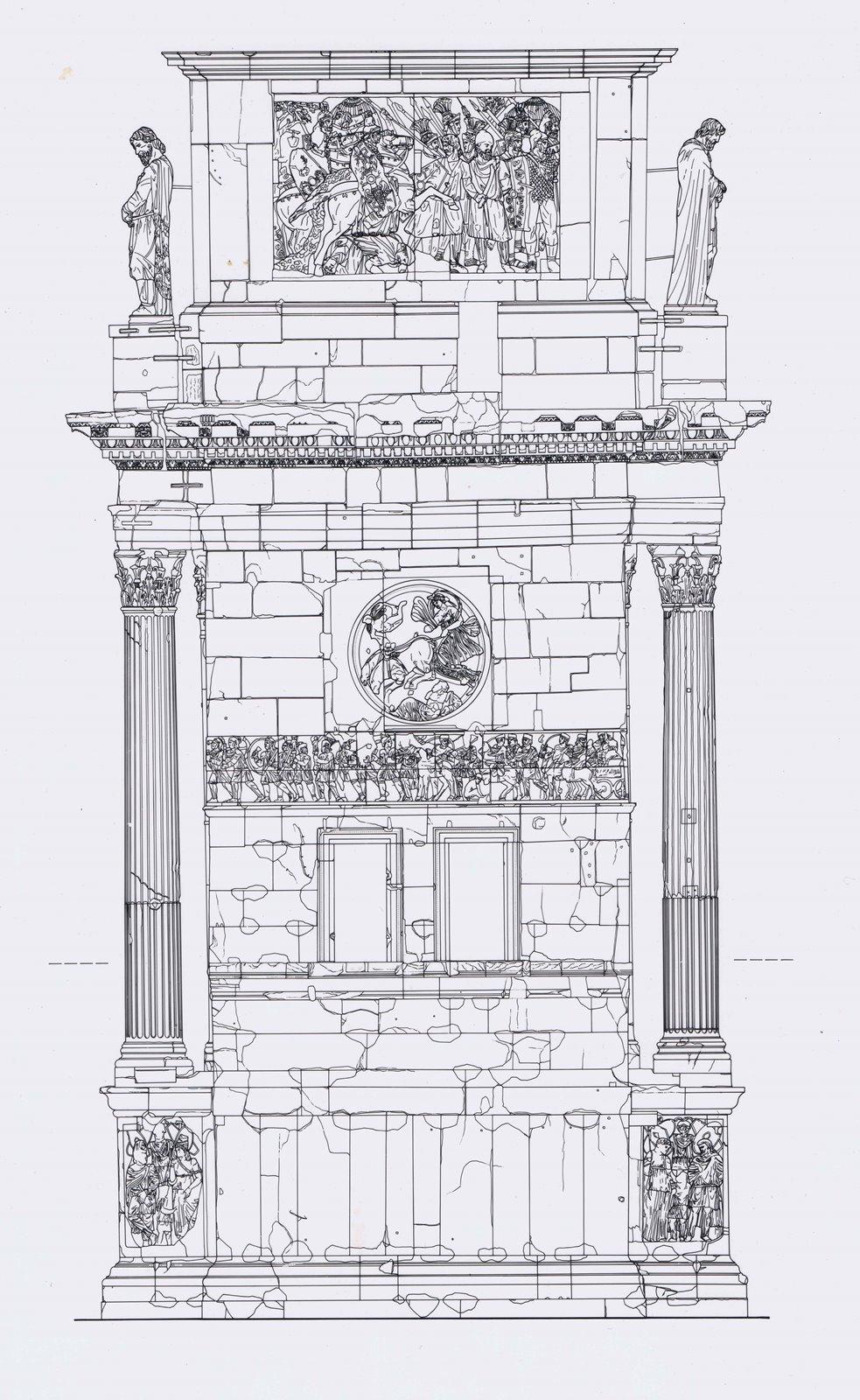 ROMA – ARCO DI COSTANTINO PROSPETTO LATO PALATINO