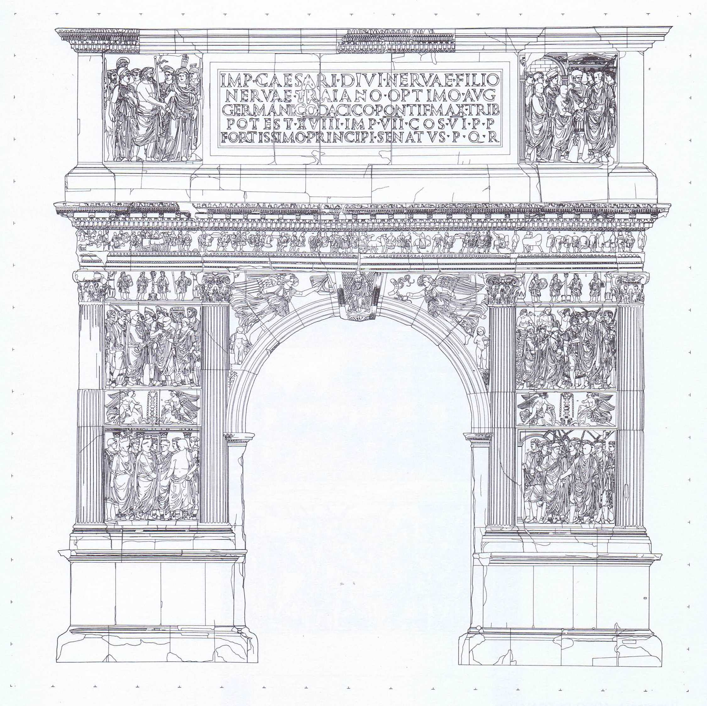 Benevento – Arco di Traiano – prospetto