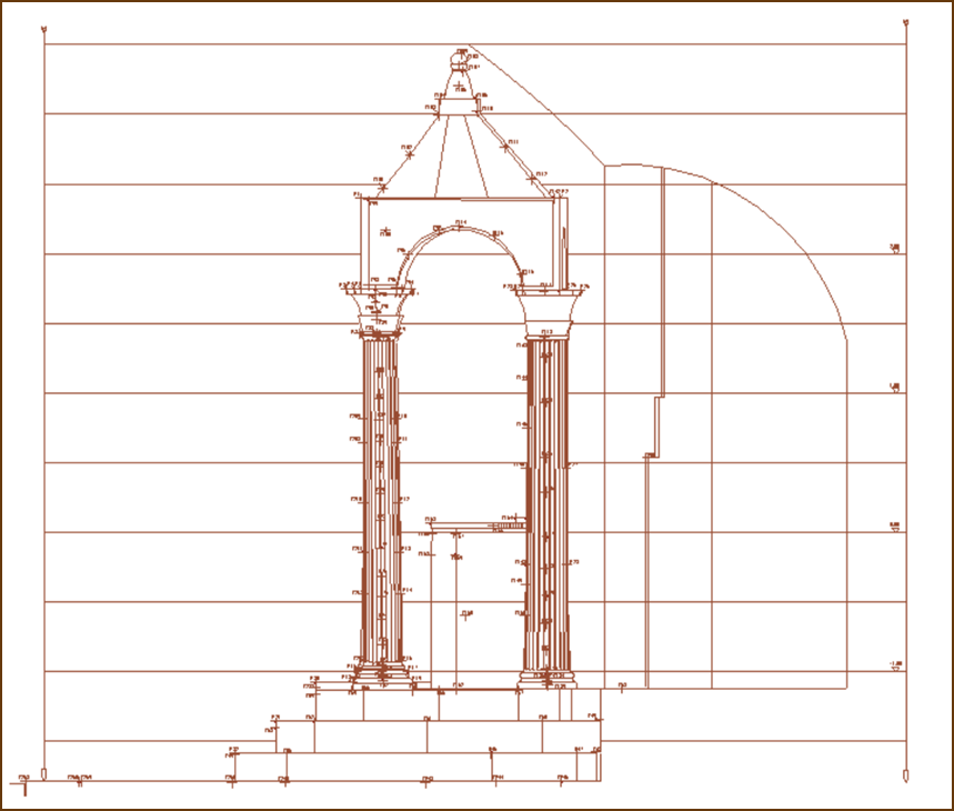Bolsena – Altare del Miracolo – Determinazione dei Punti di appoggio topografico