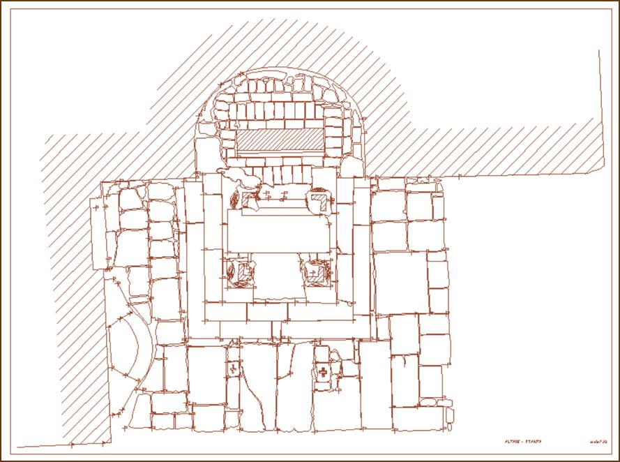 Bolsena – Altare del Miracolo – Planimetria
